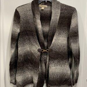 Shawl Collar Buckle Closure Cardigan